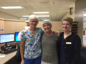 Last day of radiation therapy.